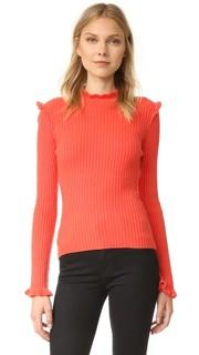 Кашемировый свитер с оборкой Derek Lam 10 Crosby