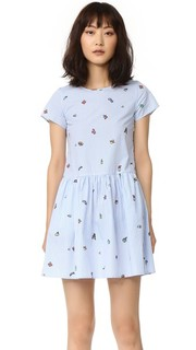 Платье с мультяшным принтом Mira Mikati