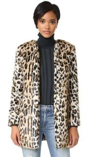 Пальто Elvina из искусственного меха с леопардовым принтом Cupcakes and Cashmere