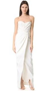 Вечернее платье-бюстье с драпировкой Charlotte J. Mendel