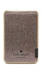 Блестящее узкое портативное зарядное устройство Kate Spade New York