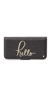 Чехол-книжка Hello для iPhone 7 Kate Spade New York