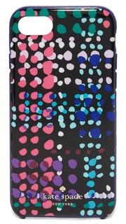 Чехол iPhone 7 в рисунком в клетку и горошек Kate Spade New York