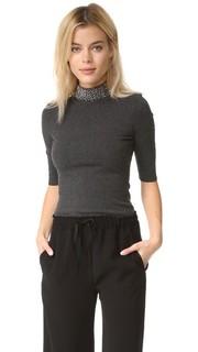 Пуловер с бусинами на воротнике Milly