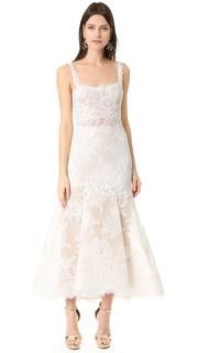 Миди-платье с перепадом длины Shannon Monique Lhuillier