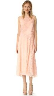 Кружевное платье без рукавов с шевронным рисунком Rebecca Taylor