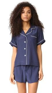 Шелковая пижамная рубашка Corita с короткими рукавами Sleepy Jones