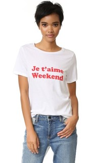 Футболка с надписью «Je Taime Weekend» South Parade