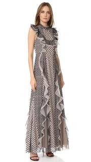 Вечернее платье с оборками Bcbgmaxazria