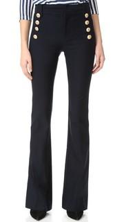 Расклешенные брюки с пуговицами в морском стиле Derek Lam 10 Crosby