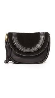 Маленькая седельная сумка из замши и кожи Diane von Furstenberg