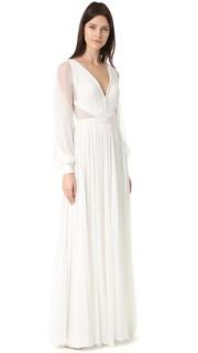 Вечернее платье Camilla с длинными рукавами и V-образным вырезом J. Mendel