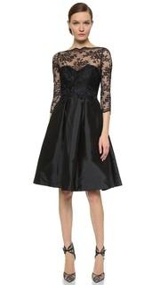 Платье с кружевным лифом и V-образной спинкой Monique Lhuillier Bridesmaids