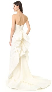 Вечернее платье Iris без бретелек Marchesa