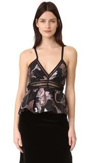 Металлизированная блуза Ella Rebecca Taylor