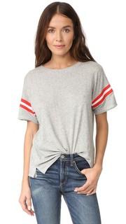 Футболка с округлым вырезом из ткани в рубчик в винтажном университетском стиле Rag & Bone/Jean