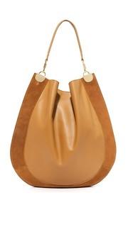 Большая сумка-хобо из кожи и замши Diane von Furstenberg