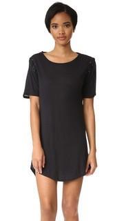 Платье-футболка со шнуровкой David Lerner