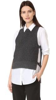 Свитер без рукавов Pure DKNY со шлевками по бокам