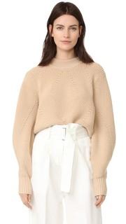 Пуловер с очень длинными рукавами и вырезом на спине Dkny