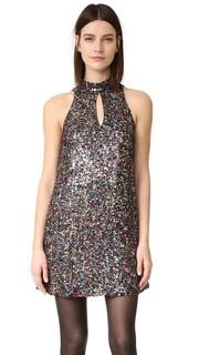 Свободное платье с воротником-стойкой, расшитое блестками Cynthia Rowley