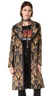 Жаккардовое пальто с цветными блоками Free People