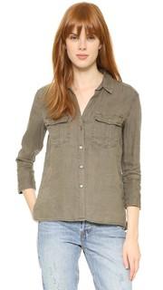 Рубашка на пуговицах с карманом James Perse