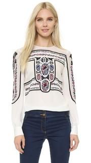 Блуза с округлым вырезом Tobie Veronica Beard
