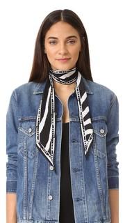Очень узкий шарф с полосками под зебру Rockins