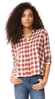 Блуза с защипами Current/Elliott
