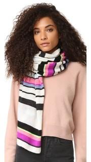 Дорожный кашемировый шарф-хомут в полоску White + Warren