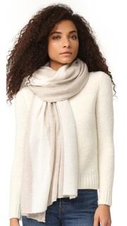 Кашемировый шарф для путешествий Color Spliced White + Warren