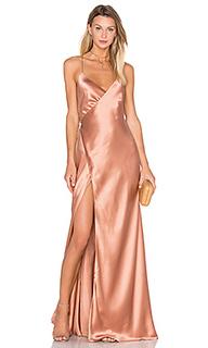 Вечернее платье с запахом на бретельках - Michelle Mason