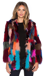Меховая куртка dyed fox belly fur - jocelyn