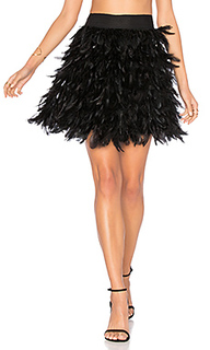 Cina feather mini skirt - Alice + Olivia