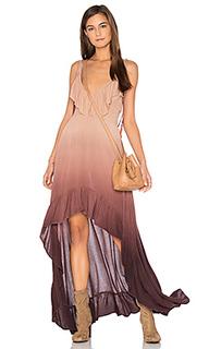 Платье с рюшами и асимметричным подолом - Blue Life