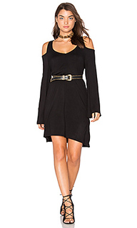 Double v cold shoulder mini dress - Chaser