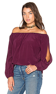 Open sleeve shirttail boho silk top - Chaser
