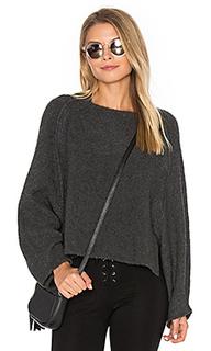 Укороченный свитер с круглым вырезом - Inhabit