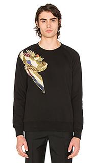 Shoulder applique crewneck sweater - Scotch & Soda