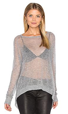 Hanky hem boatneck sweater - Autumn Cashmere