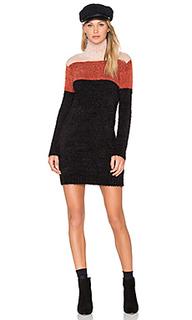 Платье свитер snuggle stripe - MINKPINK