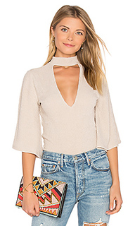 Rib flare sleeve reversible top - MINKPINK