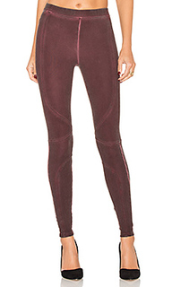 Pigment dye seamed legging - David Lerner