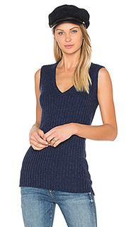 Rib sleeveless sweater - BROWN ALLAN