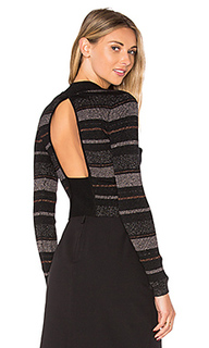 Lurex stripe long sleeve sweater - KENDALL + KYLIE