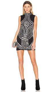 High neck embellished mini dress - Endless Rose