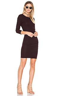 Платье из джерси с рюшами - SUNDRY