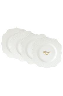 Набор из 4-х десертных тарелок Nuova R2S