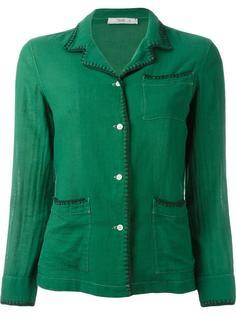 пиджак с простроченной отделкой Prada Vintage